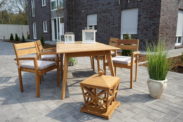 Vaganza »Garda« tavolo da giardino in teak 2 misure