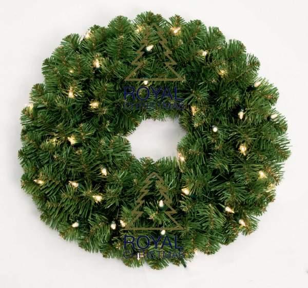 Corona de Dakota de Navidad real con iluminación LED