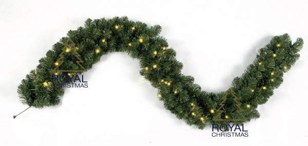 Ghirlanda Royal Christmas Dakota GS 270cm con illuminazione a LED