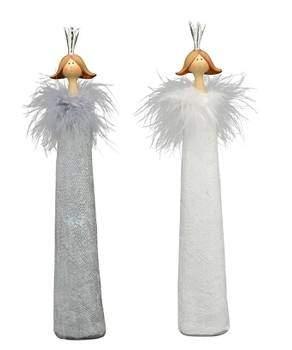 Exner »Engel Lilian« 32,5cm grau weiß