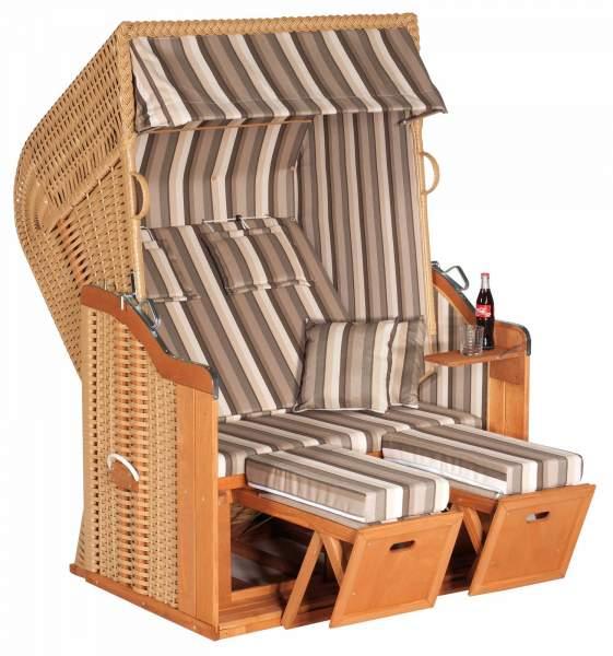 Half verstelbare strandstoel Rustic 250 Plus beige 2-zits 1200