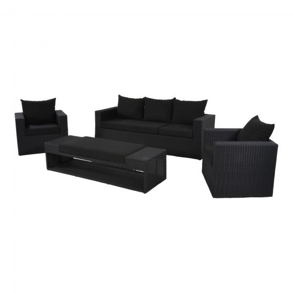 "Lesli Living loungeset ""Roma Black"""