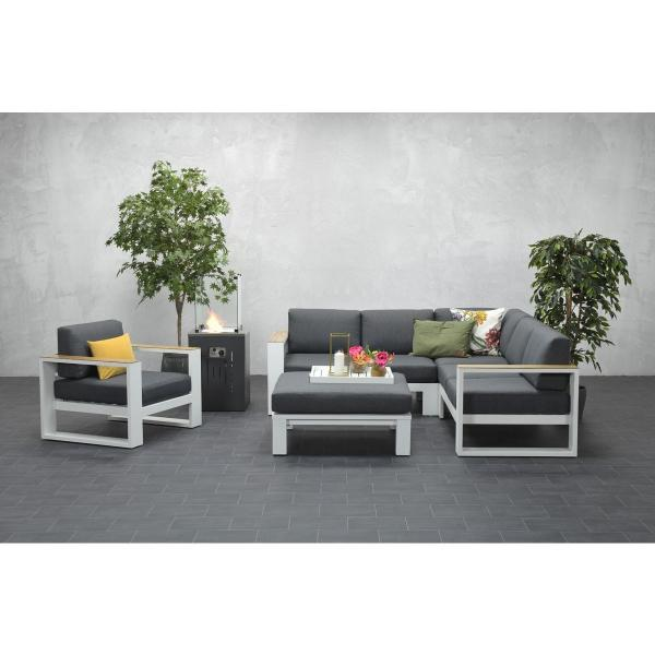 Garden Impressions »Cube« Lounge-Dining Gruppe Teak Look 2 Farben