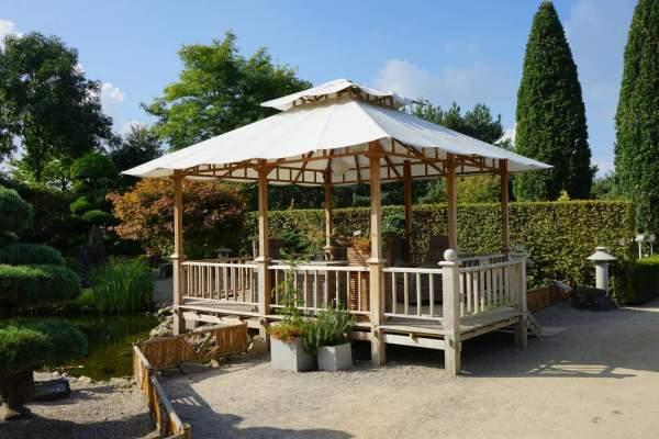 Ploß Luxus-Pavillon SEMARANG Premium-Teak natur