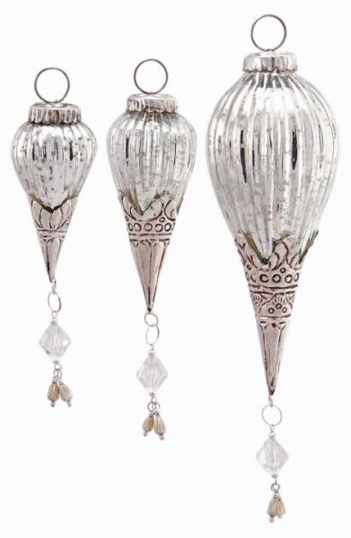 Exner »Zapfenhänger Iride« Silber Glas 2 Größen