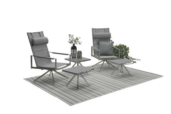Garden Impressions Loungesessel mit Fußbank »Zermatt«