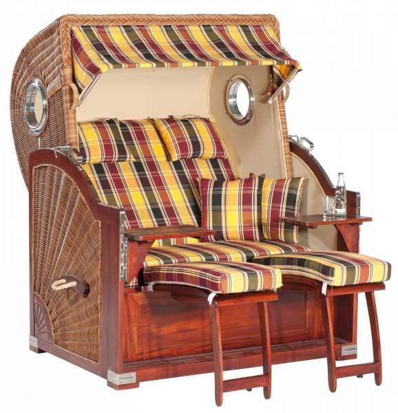 Chaise de plage de jardin XL RUSTIKAL 500 PLUS COMFORT brun naturel 1216