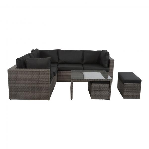 Lesli Living Lounge Eckset »Lugo Stone«