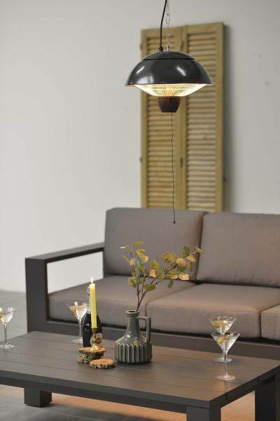 Bordeaux hängender Heizstrahler 43 cm 1500W 3 Farben