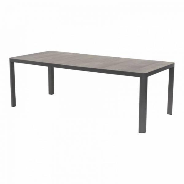Lesli Living Dining-Tisch Castilla Negro anthrazit