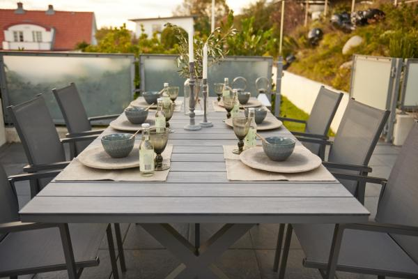 Tables de repas Brafab »Hillmond« en noir et blanc mat