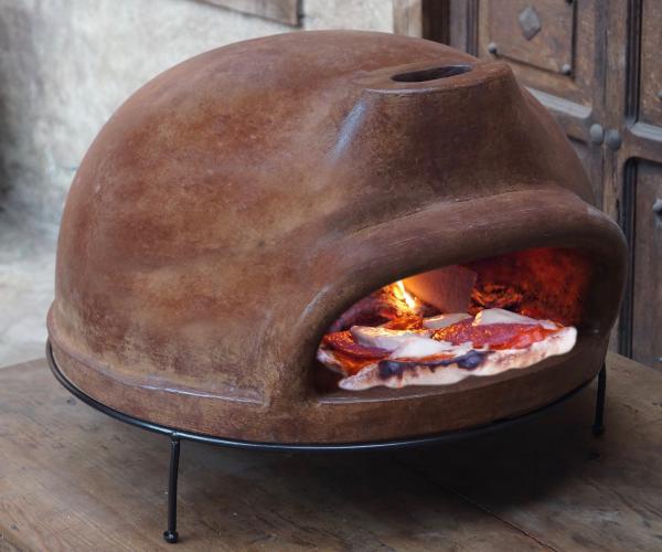 Runder Pizzaofen Holzbackofen Steinbackofen Holzofen