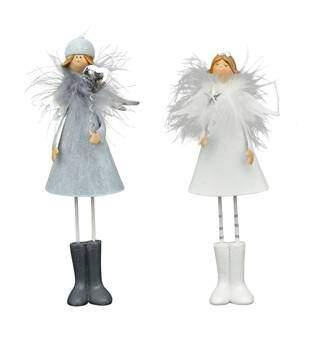 Exner »Engel Lilian« 21,5cm weiß grau