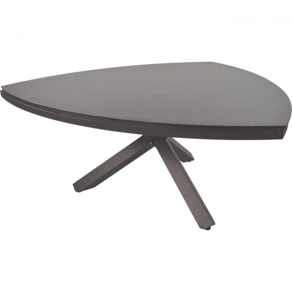 "Lesli Living table de salon angulaire Easystone plateau de table ""Soho Coal"" réglable"