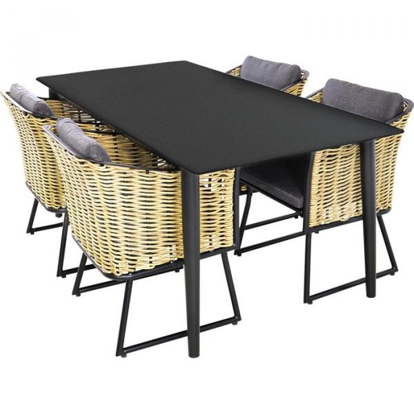 """Lesli Living chaise de salle à manger """"Prato Brick"""""""