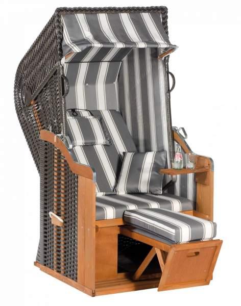 Halblieger Strandkorb Rustikal 250 Plus anthrazit 1 - Sitzer 1214