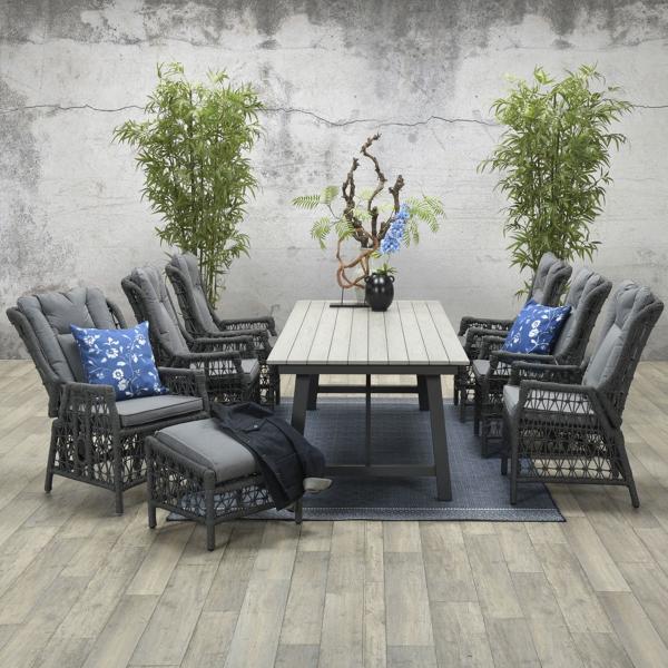 Garden Impressions Stuhl »Excellence« verstellbar mit Tisch »Harvard«