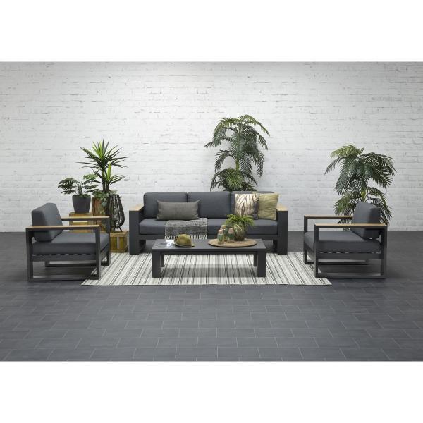 Garden Impressions »Cube« Lounge Gruppe Teak Look 2 Farben